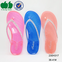 High quality lady style beach fashion printed flip flop women hot fashion fasle crystal cheap house flip flop