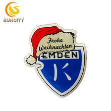 Letter Logo Printed Promotional Enamel Lapel Badge Pins