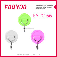 FOOYOO FY-0166 DAILY NEED ROUND SMALL PLASTIC HANGER HOOK DECORATIVE OVER THE DOOR HOOKS