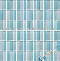 Crystal Glass Mosaic Light Blue Mix