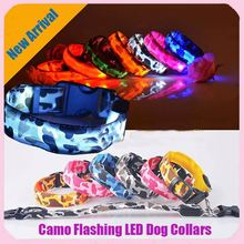 Wholesale Camouflage Flashing Reflective LED Dog Collars