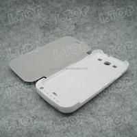 High Quality External Battery Pack Phone Charger Case for Samsung Galaxy S3 i9300 with flip cover , made in China