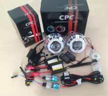 CPC lighting bixenon Auto parts tuning double angel eye hid xenon projector kit H4