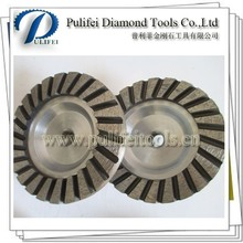 Wet Stone Grinding Tools Diamond Turbo Cup Wheels For Floor Grinding