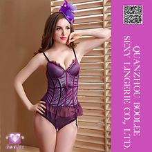 2016 Latest Sexy Purple Waist Shaper extreme sexy busty corset lingerie