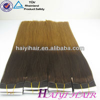 Private Label Good Feedback Directly Factory Price Double Drawn Colored Two Tone Hair Weave