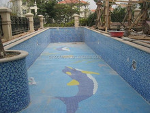 cheap swimming pool tile glass mosaic tiles