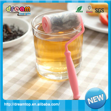2016 New design funny rolls brushes silicone tea bag tea infuser
