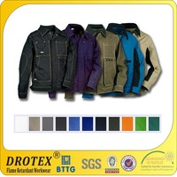 High quality breathable soft fireproof waterproof jackets / safety uniform