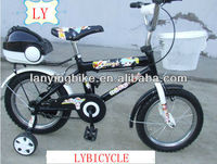Black color with basket tool box steel rim air tyre kids bike cycle,bmx