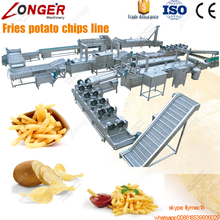 Fully Automatic Factory Price Potato Flakes Maker Equipment Potato Chips Making Machine Frozen French Fries Production Line