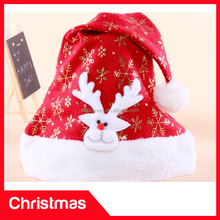 Colorful Plain Christmas Hat Decoration Luxury Christmas Hat Long Plush Christmas Decoration