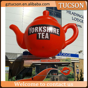 Giant inflatable red teapot for decoration / advertising /promotion