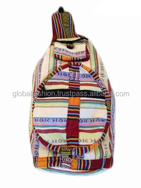 a description of a backpack a bag that is made of fabric used to carry articles Travel & luggagebackpacksbackpack trolleys - a narrow hard-sided box-shaped bag that is used to carry - a small fabric pouch usually secured with a.