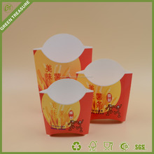 Eco friendly french fry box and fried chicken /box French fries box wholesale chips/snacks box