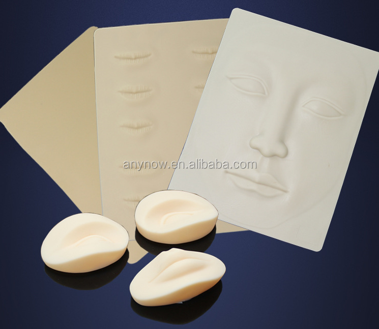 Lip and Eyebrow 3D Silicone Fake Practice Skin For Tattoo Beginner
