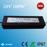 High efficiency outdoor led tree light waterproof led power supply, 100w smps led transformer, flat led driver 100w