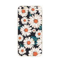 Fashionable Floral Painting Ultra Thin TPU Cell Phone Case for Iphone 6 Skin Cover Case