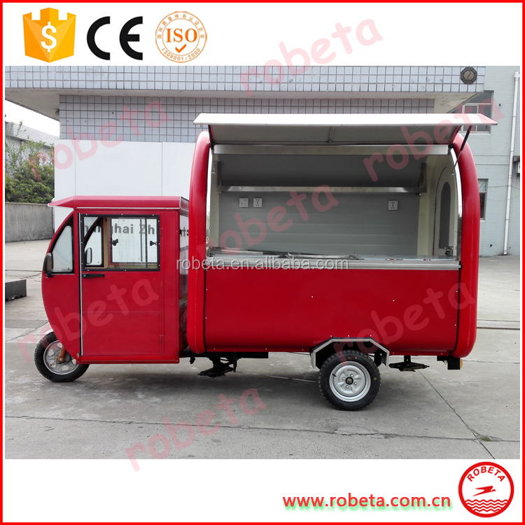 Mobile Manufacture Ice Cream Food Truck/ Ice Cream Roller Selling Cart Van/ Thailand Fried Ice Cream Food Van