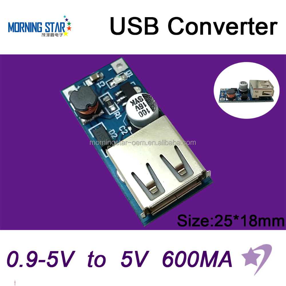 DC-DC Step up module 0.9-5V to 5V 600mA USB Charger Converter for Mobile power bank mobile phone charge station MP3 MP4 P4P PSP