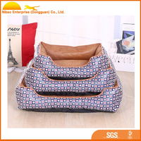 Fashion leather pet bed Cool and comfortable dog products