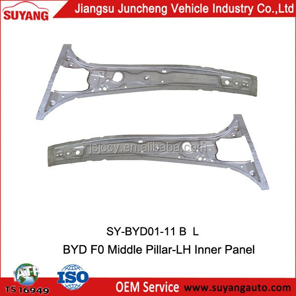 Middle pillar inner panel of BYD F0 used auto parts in korea