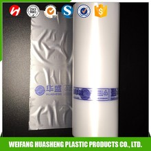 hdpe plastic flat food transparent bag on roll