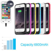 new design hot sale 6800mah Extended External Power Bank Backup Battery Charger Case cover for iPhone 5S 5 SE
