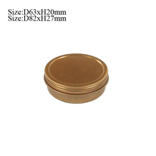 Metal type round screw lid pill tin mint box for candy packing