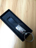 custom promotional keychain leather metal with box