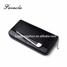 2017 Business leather cell phone wallet vintage mens leather purse
