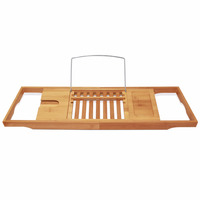 Bamboo bath caddy /shower caddy Size 75.0 (Extends to 92) x 22.0 x 3.0cm Produced by bamboo plywood