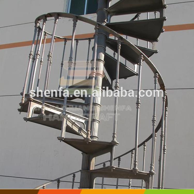 Morden barato al aire libre decorativos de hierro forjado - Escaleras al aire ...