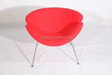 Pierre paulin fashion design red orange slice chair, lips chair for sale