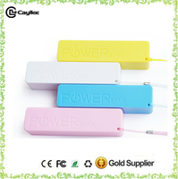 ABS Material portable mobile phone charger customized 2000mah,2200mah,2600mah 18650 Battery Charger with keychain