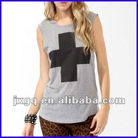 2013 hot sell fashion cotton ladies tops latest design,wholesale women fashion tank top