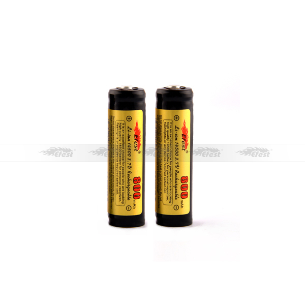 Efest 800mah 3.7v 14500 battery lithium ion battery rechargeable battery 14500 for led, flashlight, e-cig