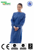 Disposable White / Blue Surgical Gown with Knitted Wrist