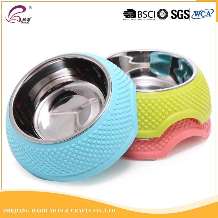 China factory stainless steel round pet feeding bowl