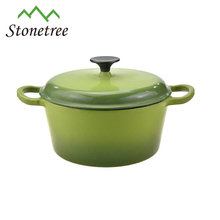 FDA certificate enamel cookware strait pot with high quality