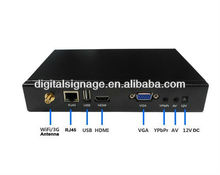 2014 New network digital signage advertising playeriptv boxdvb-t recorder hdd media player full hd 1080p