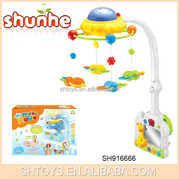 Musical projective baby bed toy RC baby mobile toys for kids