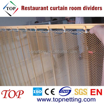 Restaurant Hanging Curtain Room Divider Decorative Metal Room Divider Curtains Buy