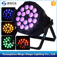 High power stage light 6in1 led par rgbwa uv 18x18