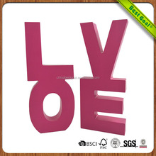 Love letter wood craft for table decoration
