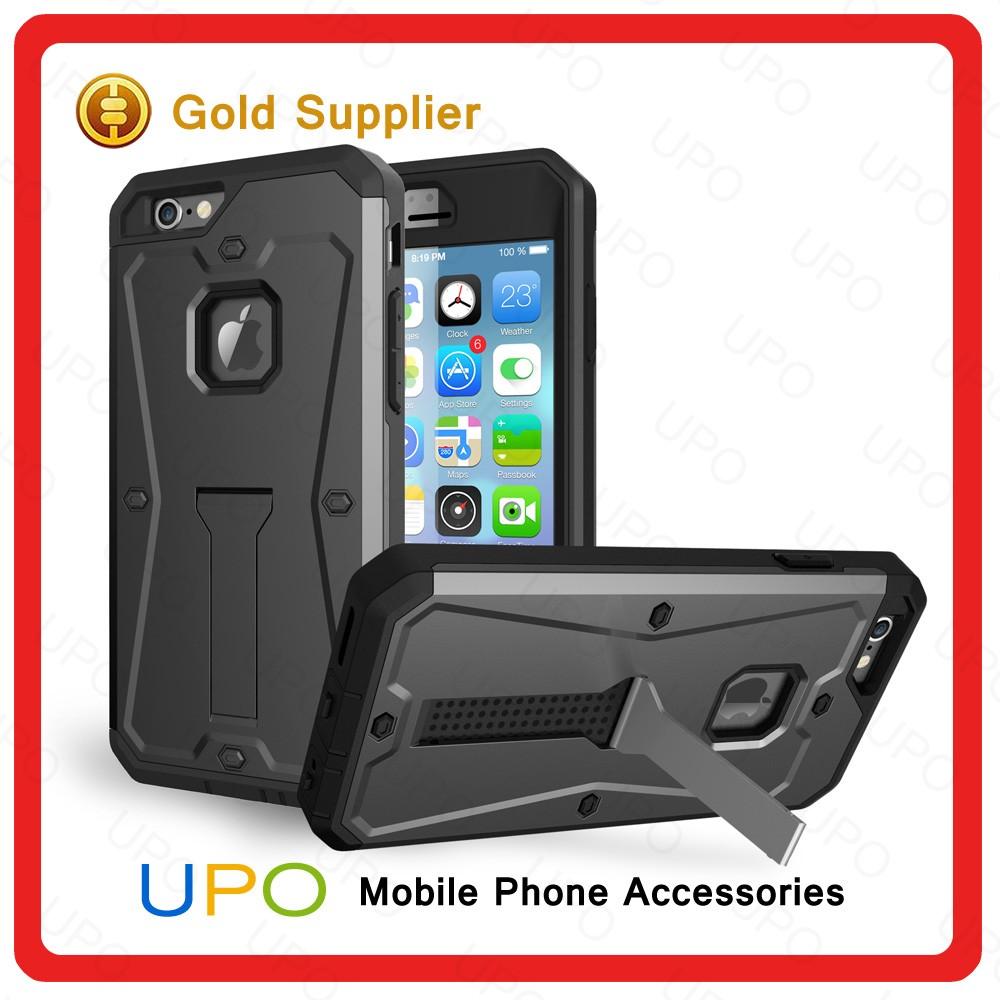 [UPO] Premium Armor Tank Combo Case PC+TPU Kickstand Mobile Back Cover Case for iPhone 6 with Screen Protector