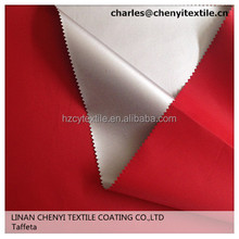 100% polyester taffeta 190t waterproof fabric