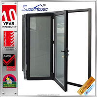 Top grade Australia AS2047 standard modern aluminium doors with Dow Corning silicon sealant