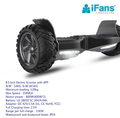 Self-Balancing Scooter HoverBoard,UL2272 Certified,All-Terrain 8.5''Alloy Wheel with 400W Dual-Motor,Solid rubber tires