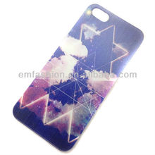 Fancy Coloured Drawing Galaxy Design Hard Plastic Mobile Phone Cover